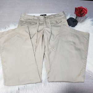 Banana Republic linen blend wide leg pants ties